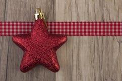 Rojo de la estrella de Moravian Imagen de archivo