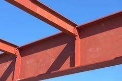 Rojo de la estructura de acero Imagen de archivo libre de regalías