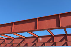 Rojo de la estructura de acero Fotos de archivo