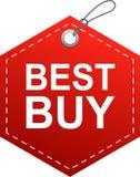 Rojo de la etiqueta de la etiqueta de Best Buy ilustración del vector