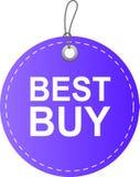 Rojo de la etiqueta de la etiqueta de Best Buy stock de ilustración