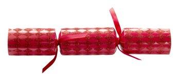 Rojo de la galleta de la Navidad aislado Imagenes de archivo
