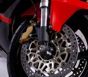 Rojo de la motocicleta Foto de archivo libre de regalías