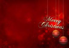 Rojo de la Navidad Foto de archivo