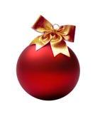 Rojo de la Navidad de la bola Imágenes de archivo libres de regalías