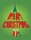 Rojo de la Navidad del árbol Imagen de archivo