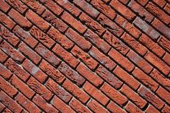 Rojo de la pared de ladrillo Foto de archivo libre de regalías
