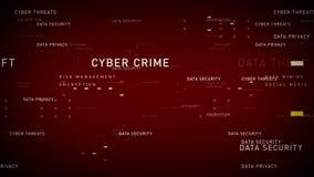Rojo de la seguridad de datos de las palabras claves libre illustration