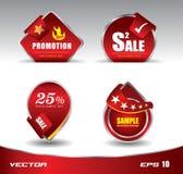 Rojo de la venta de la promoción Fotos de archivo
