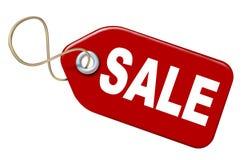 Rojo de la venta del precio Fotografía de archivo libre de regalías