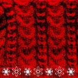 Rojo de lana hecho punto de la textura Imagen de archivo libre de regalías