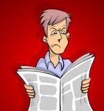 Rojo de las malas noticias Imagen de archivo