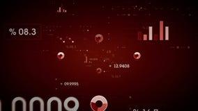 Rojo de los gráficos y de los datos libre illustration