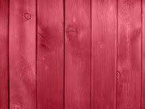 Rojo de madera de la pared Fotografía de archivo
