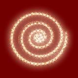 Rojo de oro de la textura de la Navidad del extracto del vector del círculo del brillo del oro Foto de archivo libre de regalías