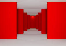 Rojo de paredes Imagenes de archivo