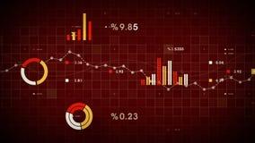 Rojo de seguimiento de los datos de negocio libre illustration