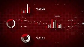 rojo de seguimiento de los datos de negocio 4K libre illustration