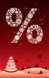 Rojo de Snowpercent stock de ilustración