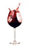 Rojo de vino en el vidrio Fotos de archivo