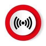 Rojo de Wifi aislado en el fondo blanco Ilustración del vector diseño del vector del web e icono modernos blancos del smartphone ilustración del vector