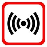 Rojo de Wifi aislado en el fondo blanco Ilustración del vector diseño del vector del web e icono modernos blancos del smartphone libre illustration