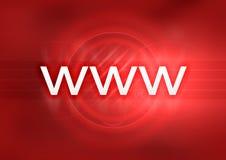 Rojo de WWW Fotos de archivo