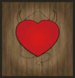 Rojo del amor de la tarjeta del día de San Valentín del corazón de la pizarra Fotos de archivo
