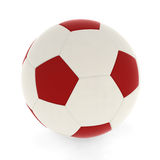 Rojo del balón de fútbol Fotos de archivo libres de regalías