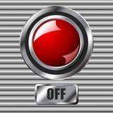 Rojo del botón stock de ilustración