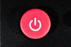 Rojo del botón en el primer remoto, macro imágenes de archivo libres de regalías