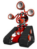 Rojo del bot del auge stock de ilustración
