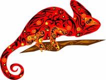 Rojo del camaleón Fotografía de archivo libre de regalías