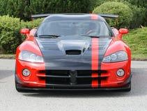 Rojo del coche de competición Fotos de archivo libres de regalías