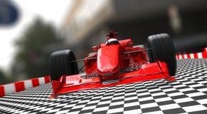 Rojo del coche deportivo de la fórmula 1 Fotografía de archivo libre de regalías