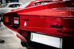 Rojo del color del countach 5000 de Lamborghini Imagen de archivo libre de regalías