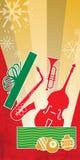 Rojo del concierto del jazz de la Navidad Foto de archivo libre de regalías