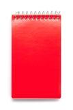 Rojo del cuaderno de notas Fotografía de archivo libre de regalías