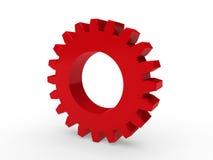 rojo del engranaje 3d stock de ilustración