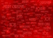 Rojo del fondo de la Navidad Imagenes de archivo