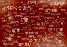 Rojo del fondo de la Navidad Fotografía de archivo libre de regalías