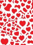 Rojo del fondo del amor ilustración del vector