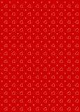 Rojo del fondo del modelo del corazón Imágenes de archivo libres de regalías