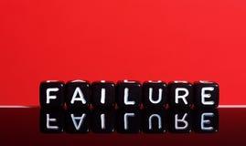 Rojo del fracaso Imagenes de archivo