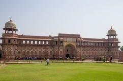 Rojo del fuerte a la ciudad de Agra de la India Imagenes de archivo