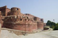 Rojo del fuerte a la ciudad de Agra de la India Foto de archivo libre de regalías