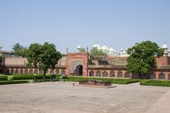Rojo del fuerte a la ciudad de Agra de la India Imagen de archivo libre de regalías