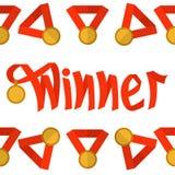 Rojo del ganador de la palabra Foto de archivo libre de regalías