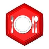 Rojo del logotipo del restaurante Foto de archivo libre de regalías