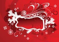 Rojo del marco de la Navidad del vector Fotos de archivo